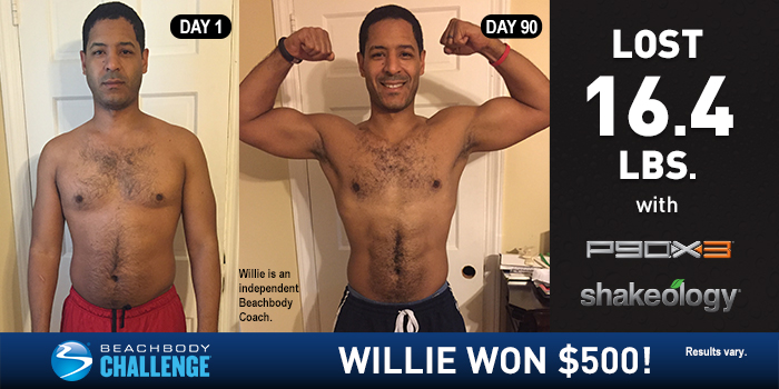 P90X3 Results: Willie Lost 16.4 Pounds in 90 Days
