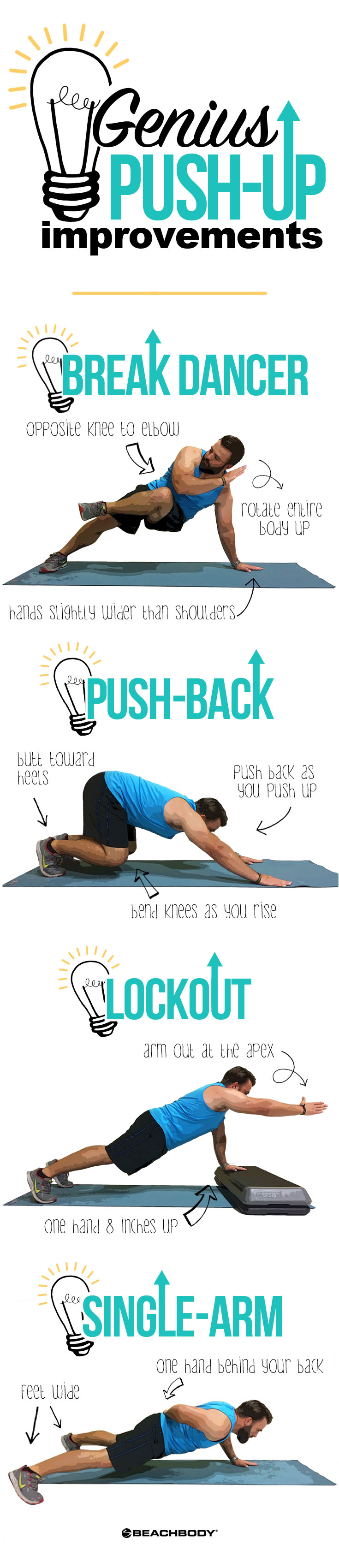 The best core workouts start with push-ups. Check out these genius push-up improvements for the best core strengthening exercises.