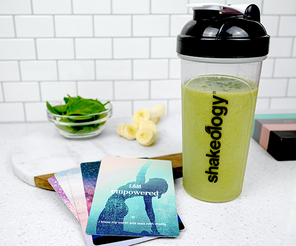 green shakeology in a cup