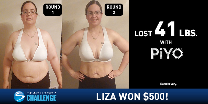PiYo Results: 41 Pounds in Two Rounds!