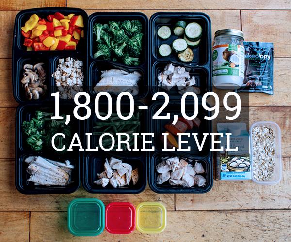 Meal Prep 1,800 - 2,099 Calorie Level