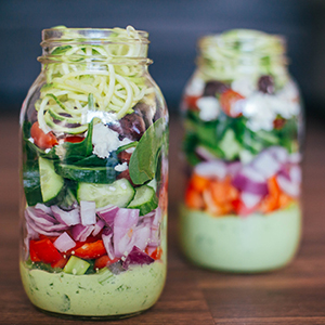 Greek Zucchini Salad in a Mason Jar | BeachbodyBlog.com