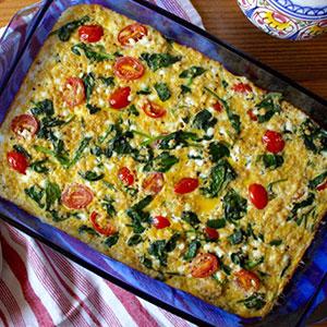 Spinach, Tomato, and Quinoa Breakfast Casserole | BeachbodyBlog.com