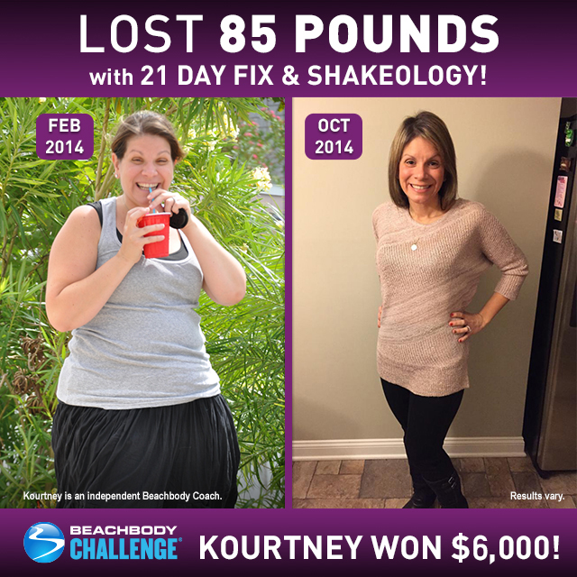 21 Day Fix Results: Kourtney Lost 85 Pounds and Won $6,000! | BeachbodyBlog.com