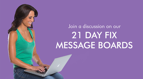Message Board - 21 Day Fix Resource