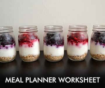 Meal Planner Worksheet - 21DayFix Resource