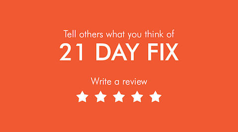 Write a Review - 21 Day Fix Resource