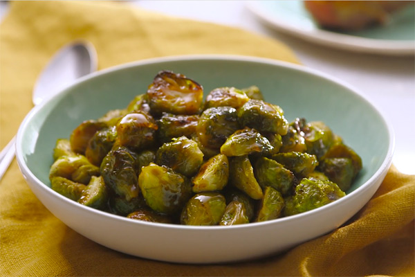 Healthy Thanksgiving Recipes from FIXATE Maple Glazed Brussels Sprouts