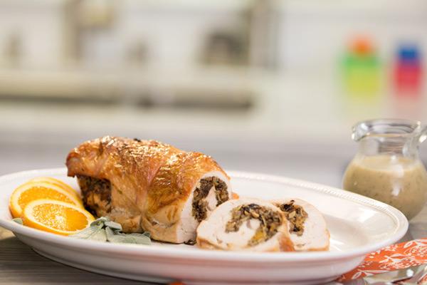 Healthy Thanksgiving RECIPES from FIXATE Whole Grain Stuffed Turkey healthy turkey recipe