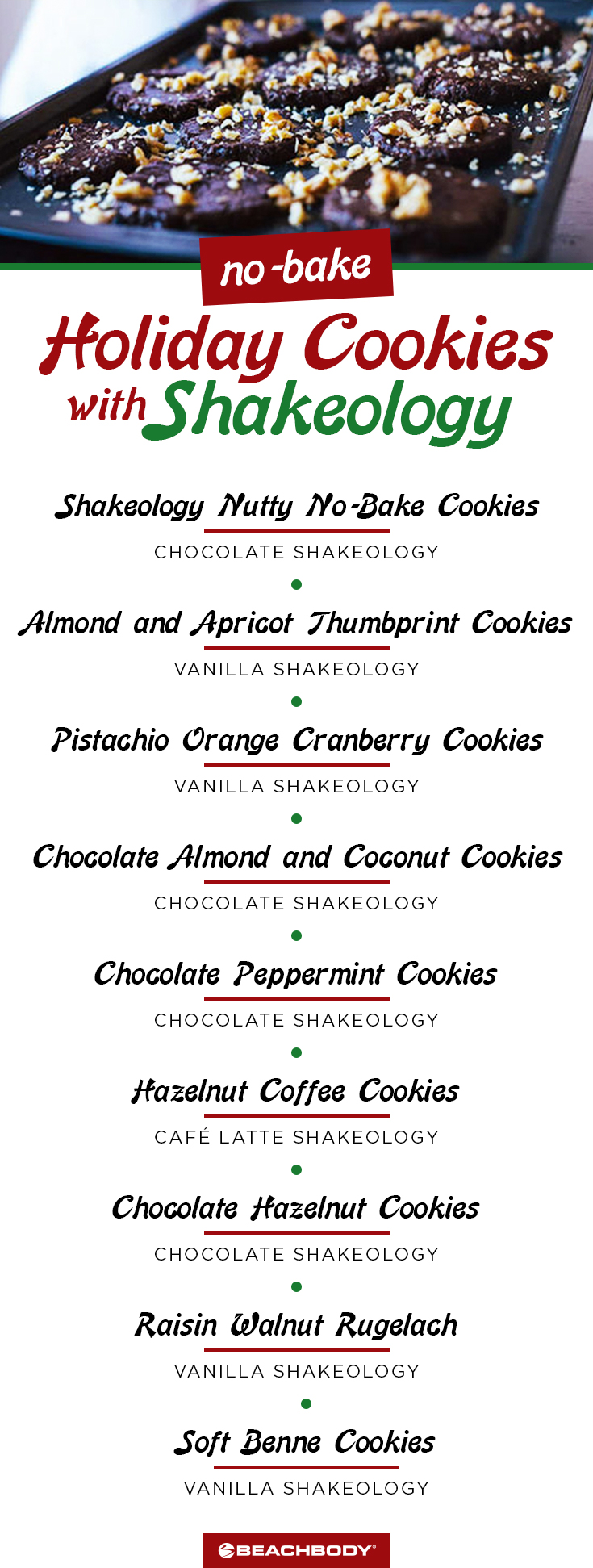 Healthy Recipes for No-Bake Holiday Cookies with Shakeology