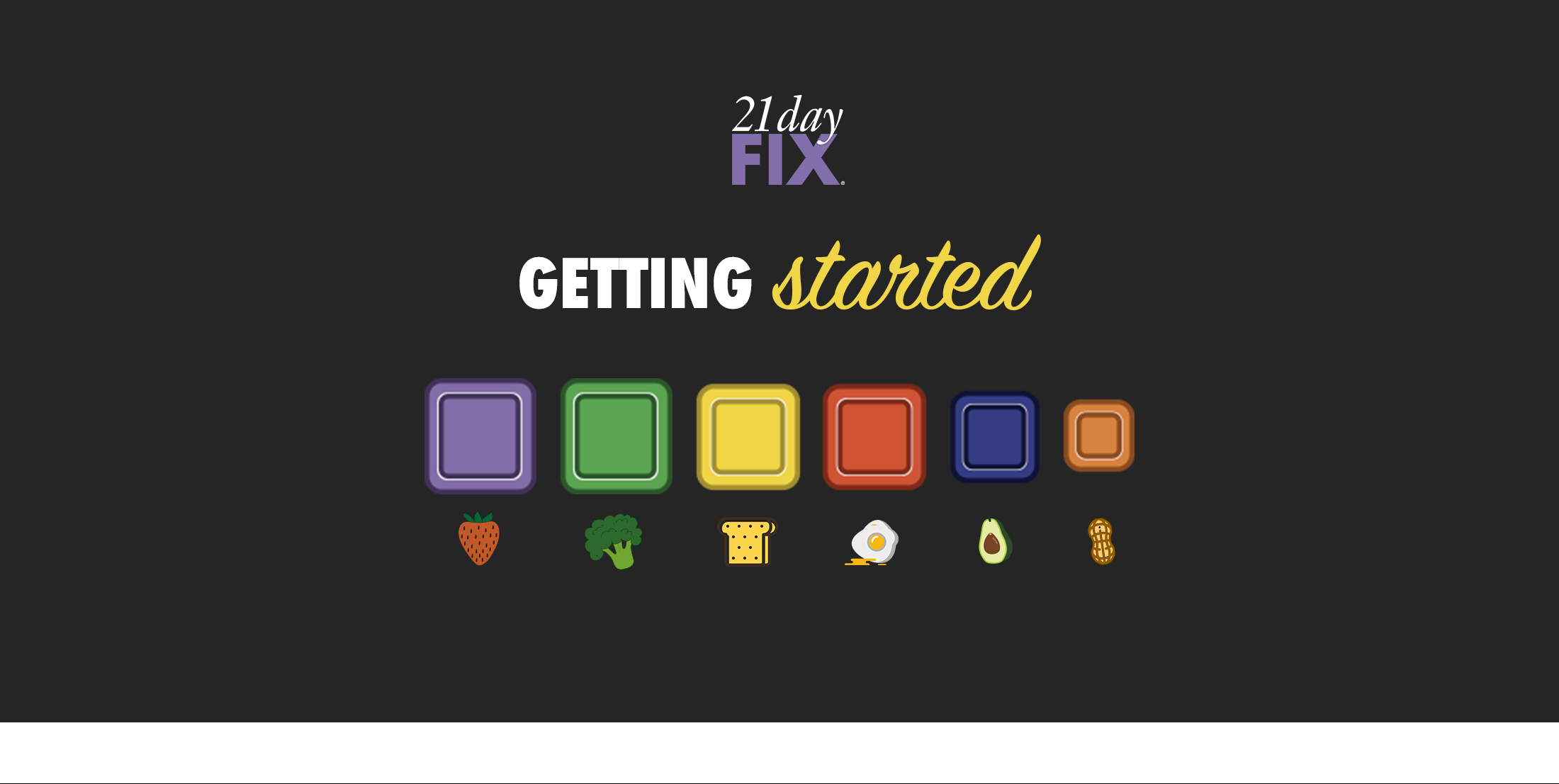 Starting 21 Day Fix is simple