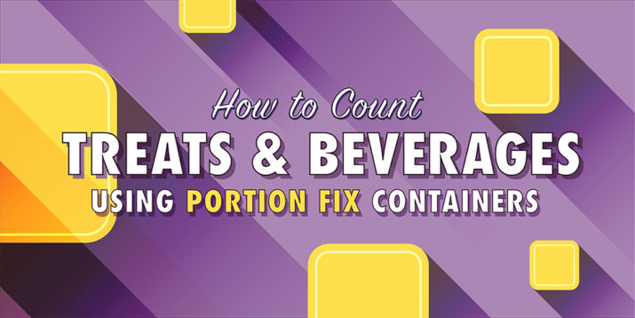 Treat and Beverage Update for Portion-Control Containers