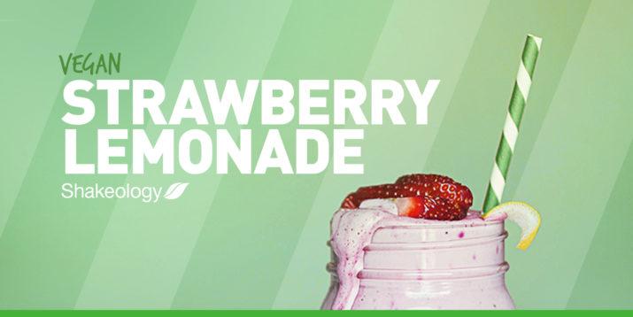 Vegan Strawberry Lemonade Shakeology