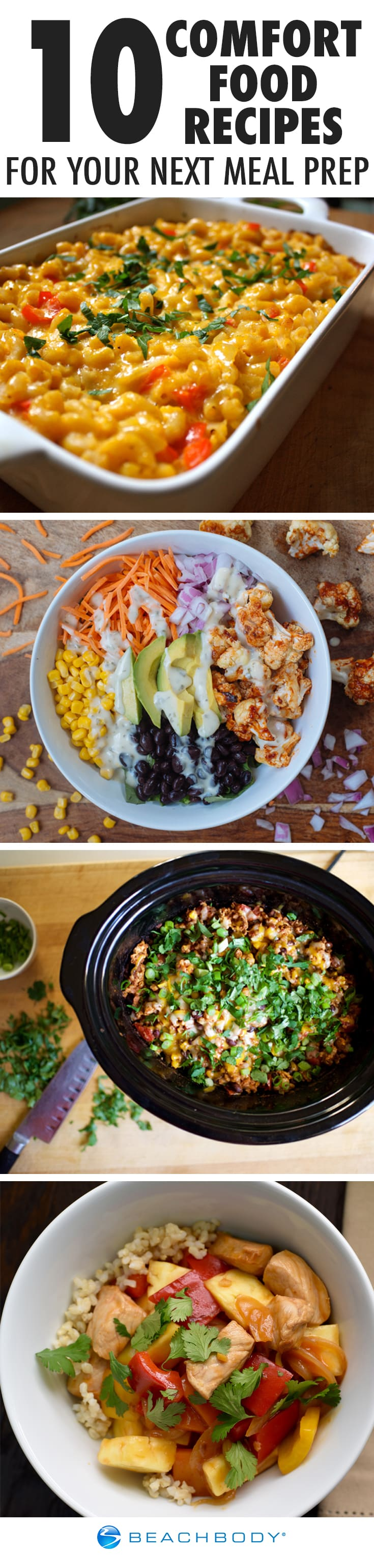 10 Comfort Food Recipes to Try in Your Next Meal Prep #mealprep #mealplan #mealplanning#comfortfood #healthycomfortfood #healthyrecipes #macandcheese #enchiladas #slowcooker