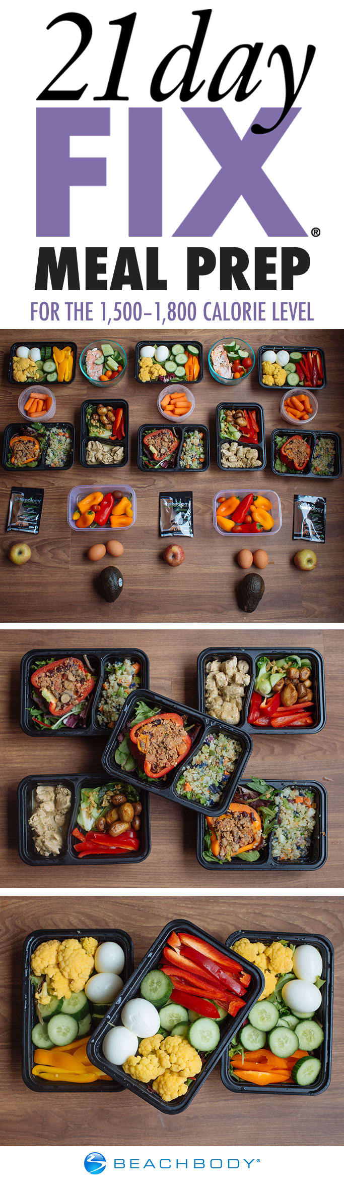 Meal Prep with Taco-Style Stuffed Peppers and Chicken Curry for the 21 Day Fix 1,500–1,800 Calorie Level #mealprep #mealplanning #21dayfix #21dayfixmealprep #21dayfixideas #21dayfixrecipes #healthyeating