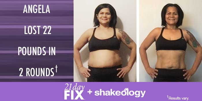 Transformation Tuesday: Angela Lost 22 Pounds with 21 Day Fix!
