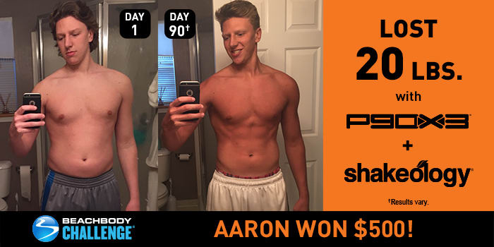 P90X3 Results: Aaron Lost 20 Pounds and Won $500!