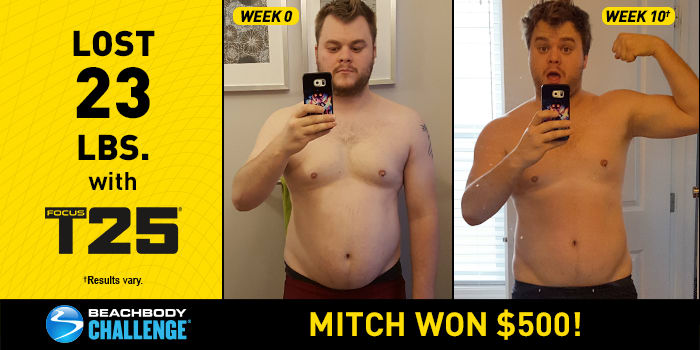 FOCUS T25 Results: Mitch Lost 23 Pounds in 10 Weeks!