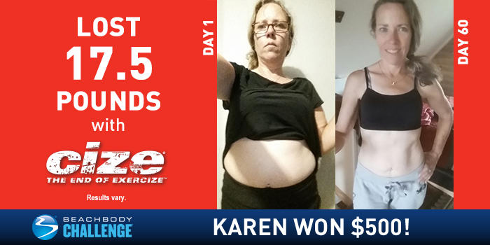 CIZE Results: Karen Lost 17.5 Pounds With Shaun T!