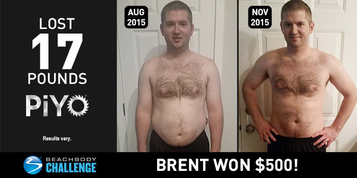 Brent Lost 17 Pounds with PiYo!