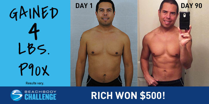 P90X Results: Rich Gained 4 Pounds of Muscle in 90 Days