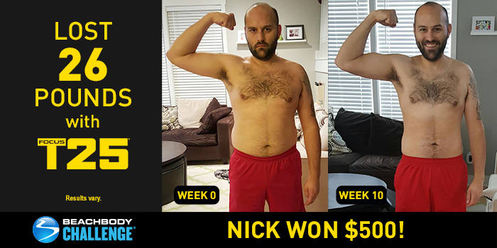 FOCUS T25 Results: Nick Lost 26 Pounds in 10 Weeks!