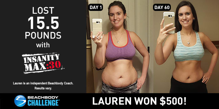 INSANITY MAX:30 Results: Lauren Lost 15.5 Pounds in 60 Days!