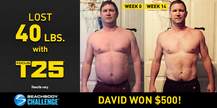 FOCUS T25 Results: Down 40 Pounds in 14 Weeks!