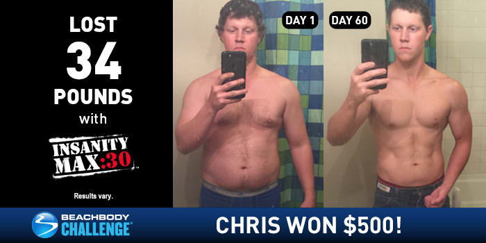 INSANITY MAX:30 Results: Chris Lost 34 Pounds in 60 Days