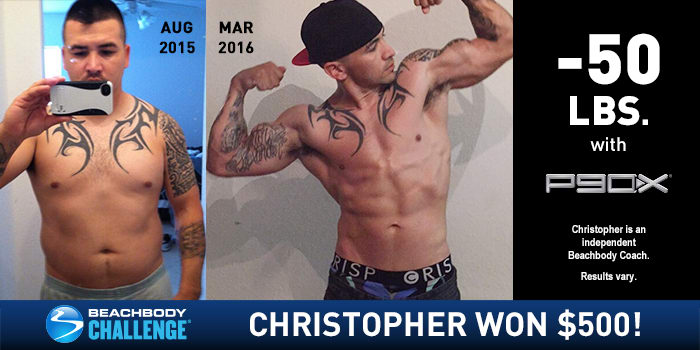 P90X Results: Chris Lost 50 Pounds and Got Shredded!   The