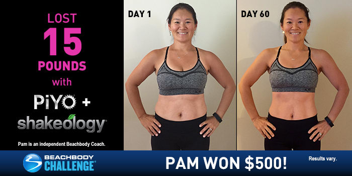 PiYo Results: Pam Lost 15 Pounds in 60 Days!