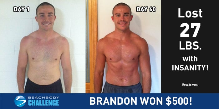 In Just 60 Days of INSANITY, Brandon Lost 27 Pounds! | The
