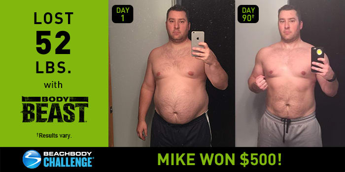 Body Beast Results: Mike Lost 52 Pounds in 90 Days!