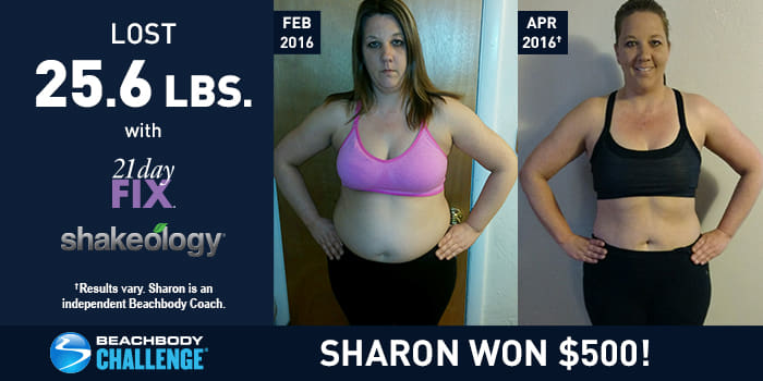 21 Day Fix Results: Sharon Lost 25.6 Pounds and Won $500