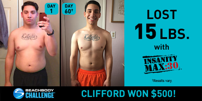 INSANITY MAX:30 Results: Clifford Lost 15 Pounds in 1 Round!