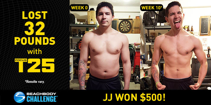 FOCUS T25 Results: J.J. Lost 32 Pounds in Just 10 Weeks!