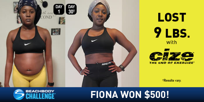CIZE Results: Fiona Danced Off 9 Pounds in 30 Days