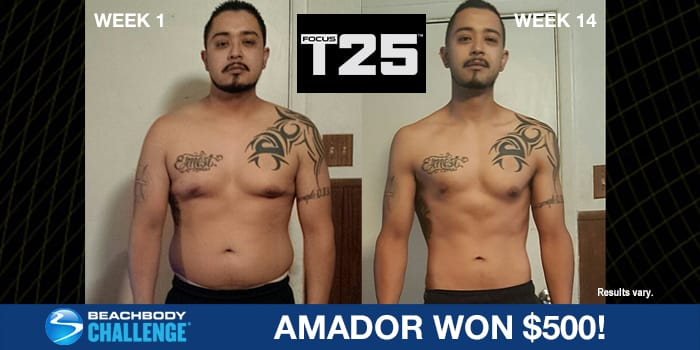FOCUS T25 Results: Amador Lost 60 Pounds in 14 Weeks!
