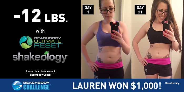 Ultimate Reset Results Lauren Lost 12 Pounds In 21 Days The
