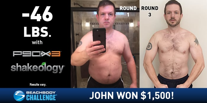 P90X3 Results: John Lost 46 Pounds and Won $1,500!