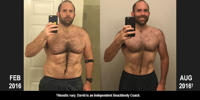 INSANITY MAX:30 Results: David Lost 66 Pounds in 6 Months!