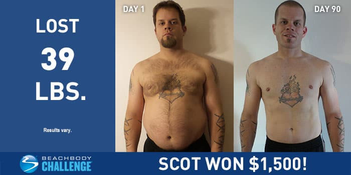 P90 Results Scot Lost 39 Lbs In 90 Days The Beachbody Blog