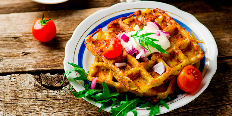 6 Healthy Foods You Can Make in a Waffle Iron That Aren't Waffles