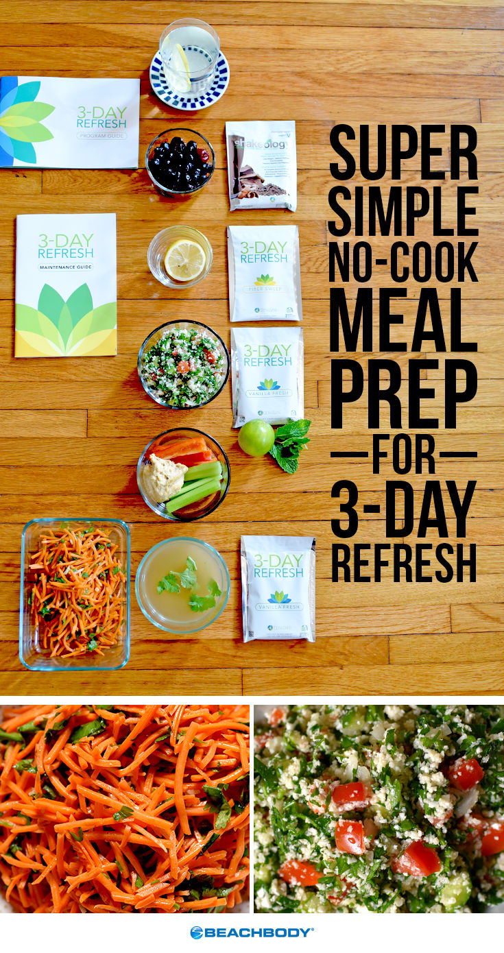No-Cook Meal Prep for 3-Day Refresh