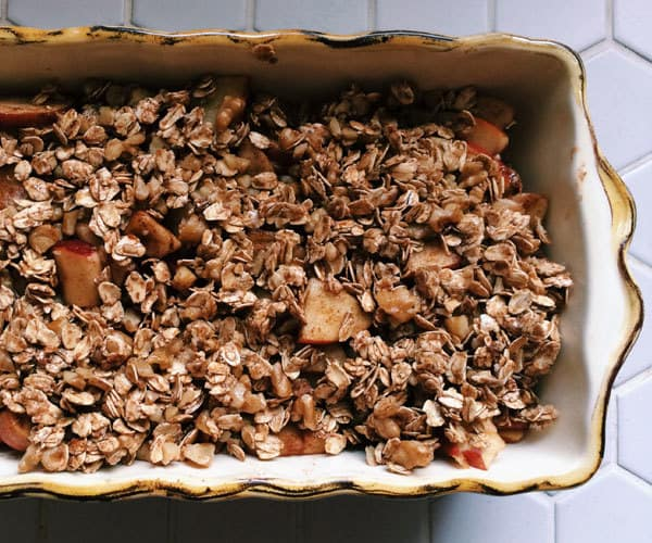 Healthy apple crisp recipe.