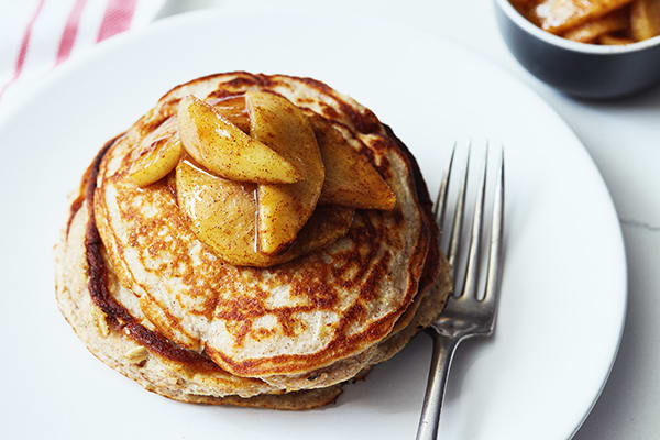 15 Healthy Breakfasts - Apple Cinnamon Protein Pancakes