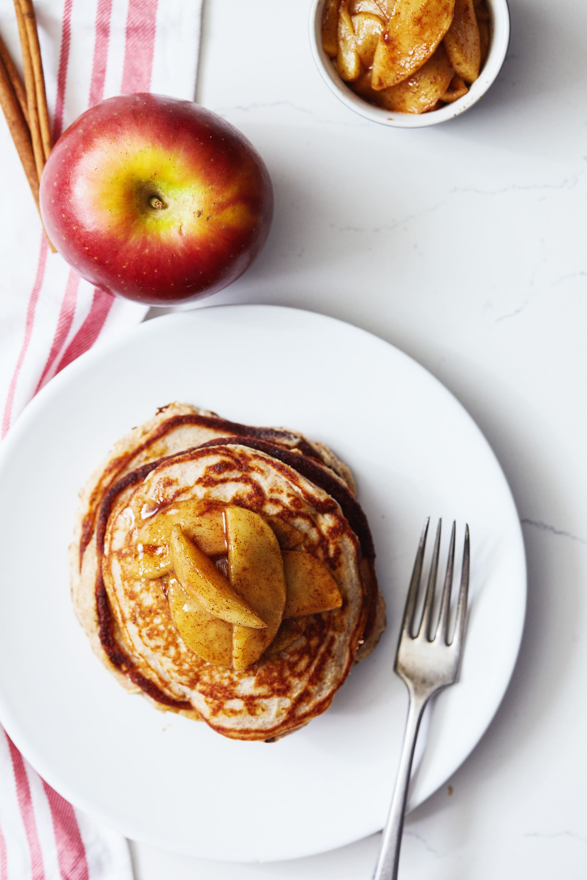 Apple Cinnamon Protein Pancakes Recipe