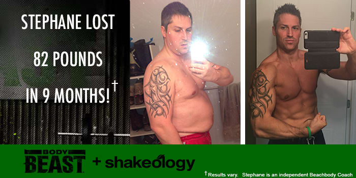 Transformation Tuesday: Stephane Lost 82 Pounds with Body Beast