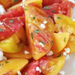 Sliced Peach and Heirloom Tomato Salad | BeachbodyBlog.com