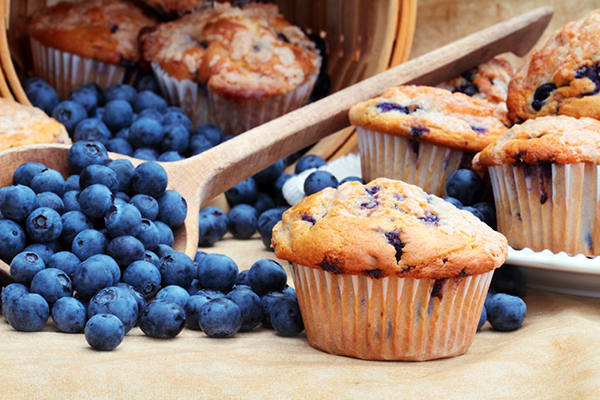These healthier Blueberry Muffins are made with a host of wholesome ingredients like fresh, juicy blueberries, cinnamon, and low-fat buttermilk.